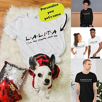 Personalize your pet's name on a shirt🐶