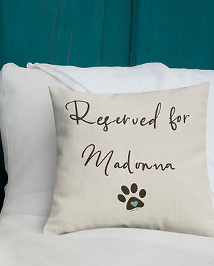 SketchPup! Reserve for the dog personalized pillow