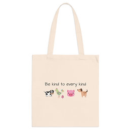 Be Kind to Every Kind | Cotton Tote Bag