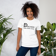 Dog Mom| Feed, Walk, Scoop| Unisex, Softstyle T-Shirt