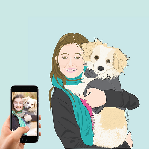 Digital File| One Pet & One Person