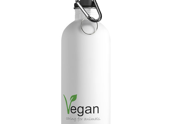 Vegan Caring for Animals | Stainless Steel Water Bottle