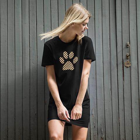 SketchPup! Paw print t-shirt dress