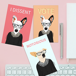 Fun Ruth Bader Ginsburg Postcards | Matte Finish