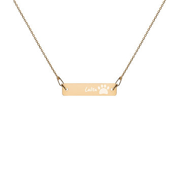 Personalized   Engraved   Necklace and Chain