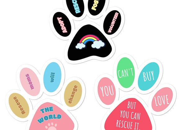 Paw Stickers 3x3 | Assorted (3pcs)