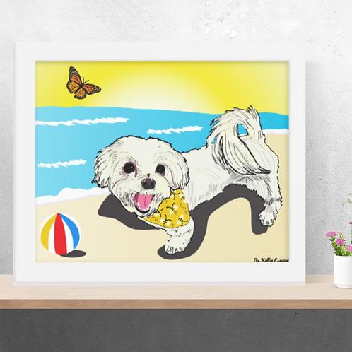 Custom Pet Portrait| Enhanced Matte Paper Poster