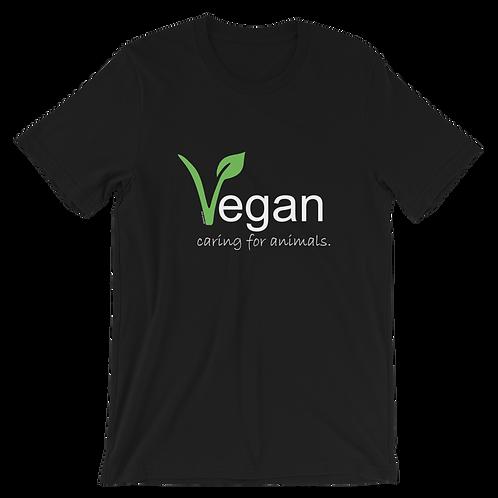 Vegan Caring for Animals| Unisex  T-Shirt | Bella + Canvas
