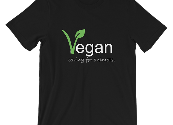 Vegan Caring for Animals | Eco-friendly Unisex  T-Shirt
