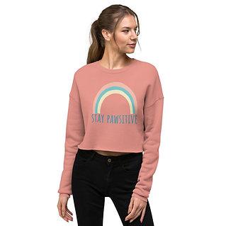 Stay Pawsitive | Women's Cropped Sweatshirt