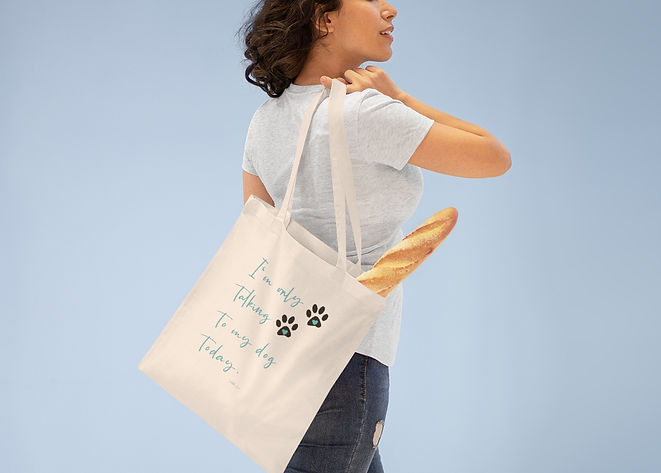SketchPup! I'm only talking to my dog today tote bag