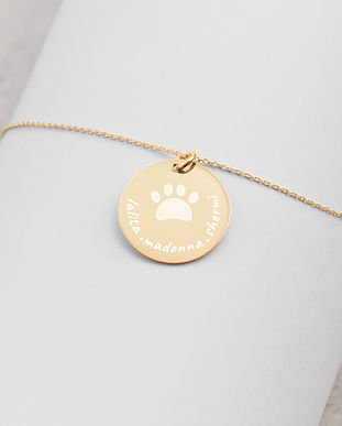 SketchPup! Dog mom personalized necklace
