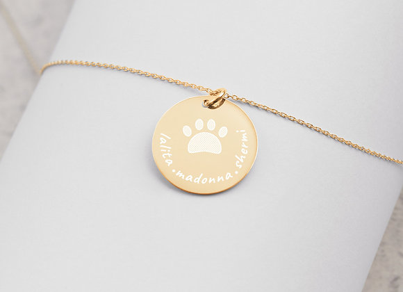 Personalized | Engraved Gold Disc | Chain Necklace