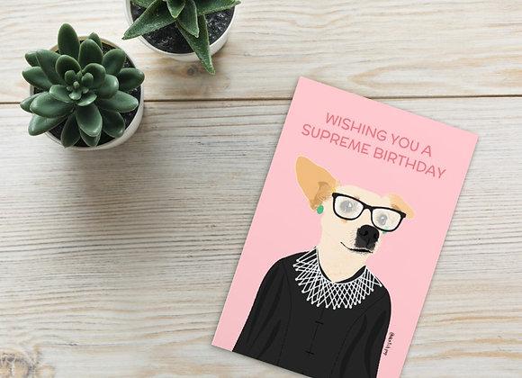Wishing you a Supreme Birthday Greeting Cards | 4x6