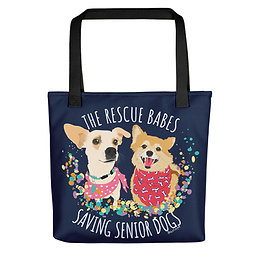 The Rescue Babes Saving Senior Dogs | All-Over Print Tote Bag