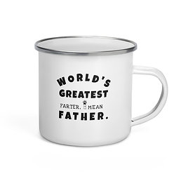 World Greatest Father| Enamel Mug (12oz)