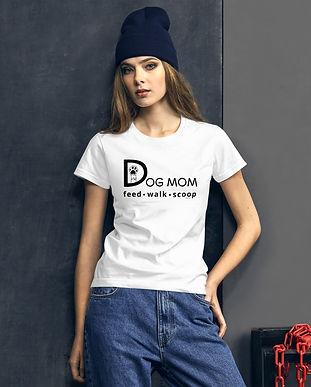 SketchPup! Dog Mom Feed, Walk, Scoop T-shirt