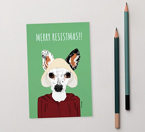 Merry Resistmas Handmaid's Tail Greeting Card | 4x6