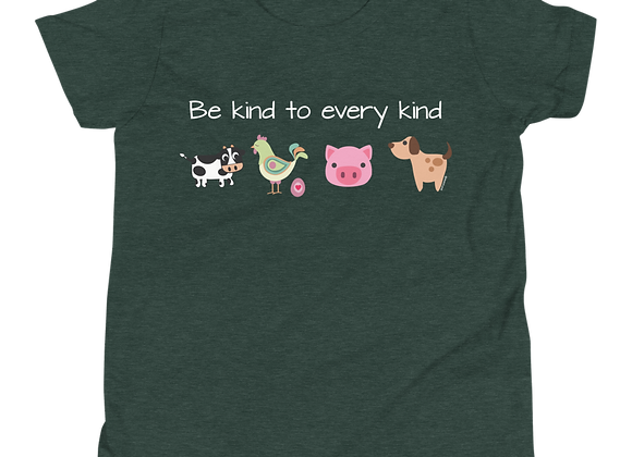 Be Kind to Every Kind| Bella + Canvas Unisex Youth Short Sleeve