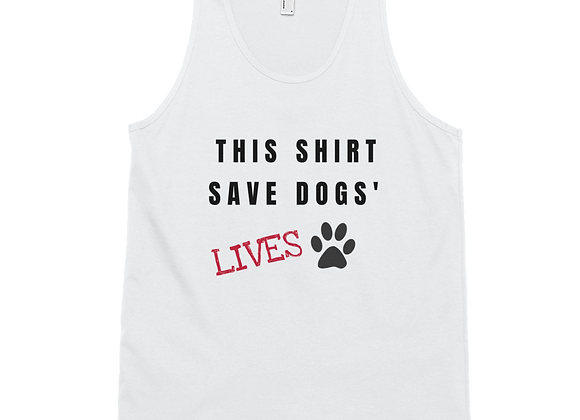 This Shirt Saves Dogs' Lives| Unisex Jersey Tank Top