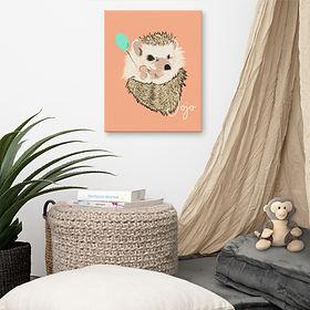 hedgehog pet portrait