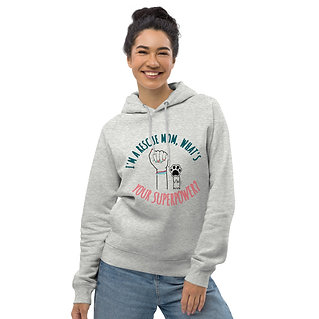 I'm a rescue mom. What's your superpower| Eco-friendly Unisex Hoodie