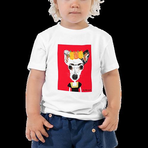 Custom pet portrait Bella + Canvas Unisex Toddler Short Sleeve Tee