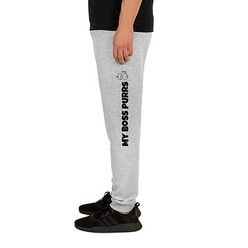 My boss purrs   Unisex Joggers