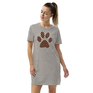 Paw Print on your heart | Eco-friendly T-Shirt Dress