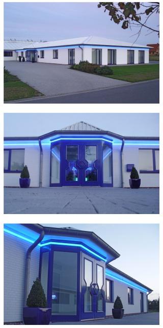 Kunturbeleuchtung blau