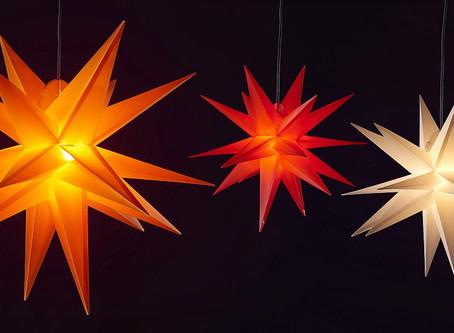 Leuchtende Sterne für den Außenbereich