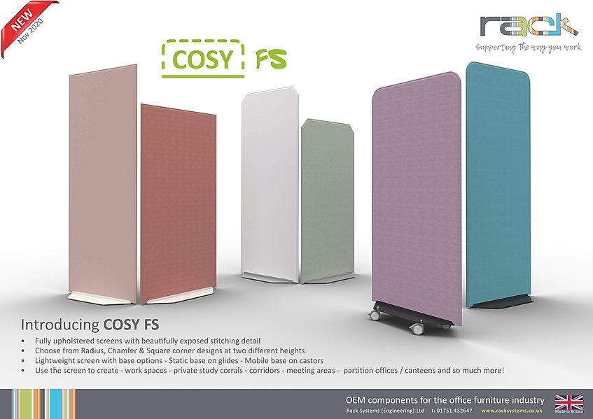 Cosy FS Floorstanding Screen launch