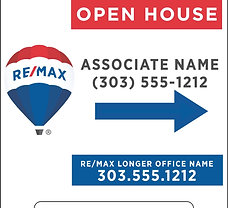 """RE/MAX Personalized """"Open House"""" A-Board"""
