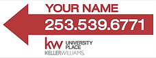 Keller Williams 9x24'' Correx Directional Sign