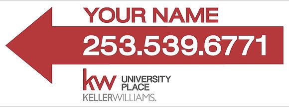 Keller Williams 9x24'' Correx Directional Sign
