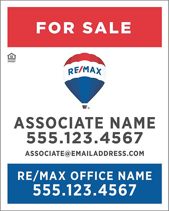 "Remax Personalized 24""x30"" Yard Sign"