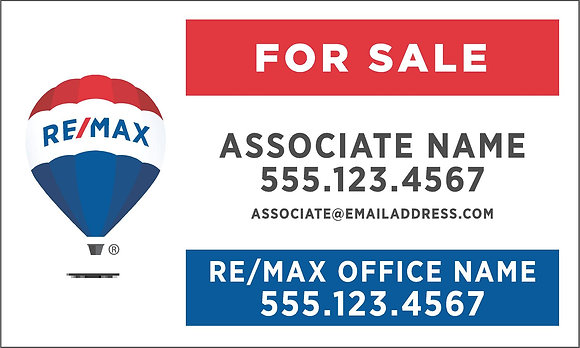 RE/MAX 18x30'' Personalized Yard Sign