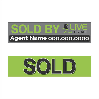 6x24'' Sold Sign