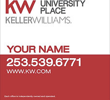 Keller Williams 24x30'' Plywood Yard Sign