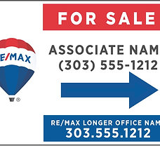RE/MAX Personalized Directional Sign