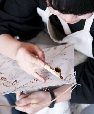 インドネシアの染職人さんと作る藍染バティックワークショップ in 横浜。