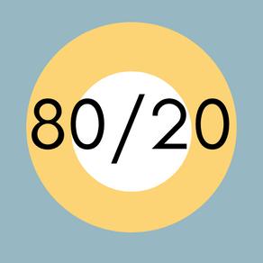 80/20, l'Home Staging e il principio di Pareto. Proporzioni e percezioni.
