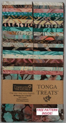 Timeless Treasures-Treat Strip-Topaz