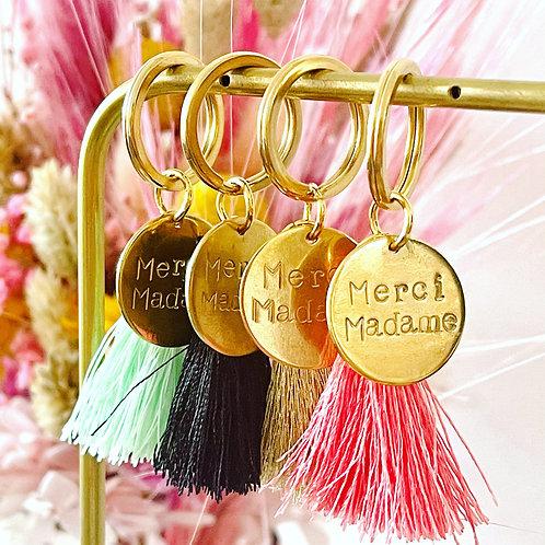 "Porte clés ""Merci madame"""