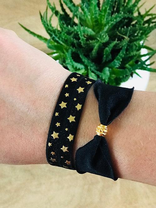 Bracelet IBIZA Etoiles Noir