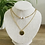 Thumbnail: Collier initiales perles blanches