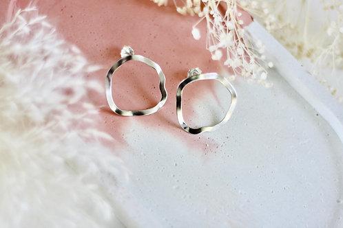 Boucles d'oreilles HYBRIS Argent