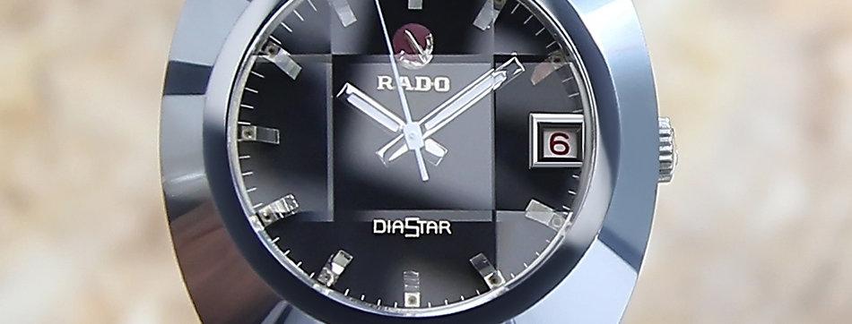Rado Tungsten Diastar Swiss 1980 men's 36mm Automatic Watch
