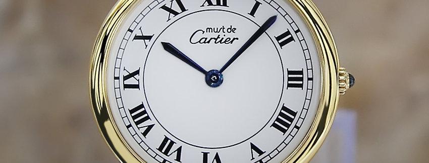 Unisex Must De Cartier Vermeil Men's Watch