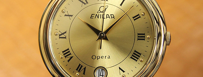 Enicar Swiss Made 1990s Quartz Gold Plated  Men's Watch